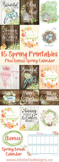 Looking for some beautiful Spring & Easter decor ideas for your home? Here are 15 Spring & Easter Printables to decorate your home! Pin this + click through to read more! Spring Home Decor, Spring Crafts, Spring Decorations, Spring Art, Design Shop, Easter Egg Designs, Pin On, Happy Spring, Easter Crafts