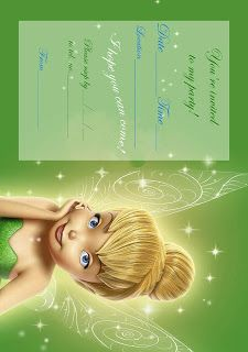 Best Gift Ideas Blog: Tinkerbell Birthday Party Invitation Printable