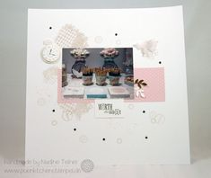 Scrapbooking Layout clean & simple, Stampin Up Clockworks | puenktchenstempel.de