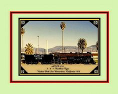 ATSF 3751 Viaduct Park San Bernardino, Ca. 1978 befor being restored (8X10)