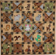 African Animals (Safari) Baby or Child's Quilt | Craftsy