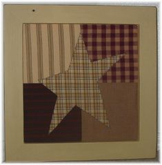 Free Primitive Star Quilt Pattern | Primitive Patchwork Stars from Patchwork & Paint