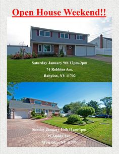 JOIN US FOR OPEN HOUSE WEEKEND! SATURDAY & SUNDAY!  UPDATED HOMES TO UPDATE YOUR NEW YEAR!! COME CHECK THEM OUT!!!