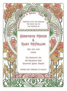 Art Nouveau garden wedding invitations… Which one? - Weddingbee