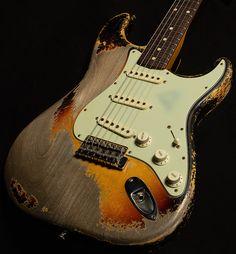 Fender Stratocaster, Fender Relic, Fender Guitars, Vintage Electric Guitars, Cool Electric Guitars, Vintage Guitars, Guitar Riffs, Acoustic Guitar, Banjo