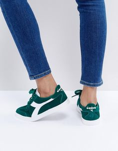 DIADORA B.ORIGINAL SNEAKERS IN GREEN - GREEN. #diadora #shoes #