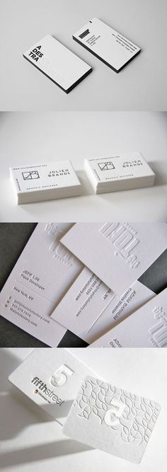 They are often simple yet elegant designs with a distinct look and feel. Here are some great examples of letterpress business cards that will create good impression with a client. Examples Of Business Cards, Letterpress Business Cards, Elegant Designs, Business Card Design, Save The Date, Printing, Place Card Holders, Cards Against Humanity, Invitations