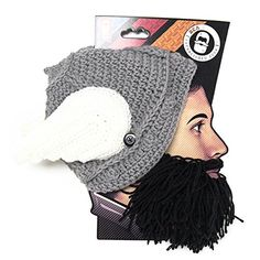Beard Head The Original Barbarian Thor Knit Beard Hat Black   Check out the  image by 8f269ea49972