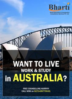 Do you want to migrate to Australia! Contact us Today! www.bhartigroup.in ‪#‎bharti‬ ‪#‎immigration‬ ‪#‎Bhartiimmigration‬ ‪#‎chandigarh‬ ‪#‎bestimmigrationConsultancy‬ ‪#‎studyvisa‬ ‪#‎study‬ ‪#‎visa‬ ‪#‎abroad‬ ‪#‎touristvisa‬ ‪#‎businessvisa‬ ‪#‎america‬ ‪#‎Australia‬ ‪#‎abroadvisa‬ ‪#‎newzeland‬ ‪#‎immigrationservices‬ ‪#‎studyabroad‬ ‪#‎visaservice‬ ‪#‎visaconsultant‬ ‪#‎number1‬ ‪#‎company‬ ‪#‎best‬ ‪#‎mohali‬ ‪#‎US‬ ‪#‎UK‬ ‪#‎passport‬ ‪#‎india‬ ‪#‎cyprus‬ ‪#‎canada‬ ‪#‎USA‬