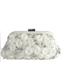Bolso de novia con flores de Menbur (ref. 82590) Flowes bridal handbag by Menbur (ref. 82590)