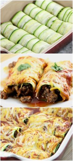 Low Carb Beef Zucchini Enchiladas - 360 Family Nutrition