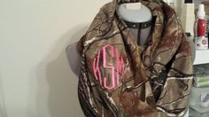 Real Tree Camo Infinity Scarf with Monogram by SewChicky on Etsy #camo