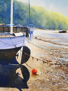 Advanced watercolour lesson: Newton & Noss by Rob Dudley at ArtTutor.