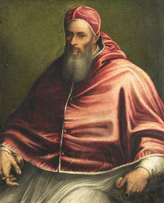 221.- Julio III (1550-1555) Nació en Roma. Elegido el 22.II.1550, murió el 23.III.1555. Continuo, abriendo el Concilio de Trento, a oponerse a las teorías luteranas. Cuando subió al trono de Inglaterra, María Tudor, envío un Nuncio para restablecer el culto católico. Celebró el 10 Jubileo (1550).