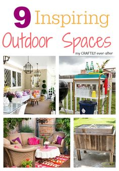 9 Inspiring Outdoor Spaces  My Craftily Ever After