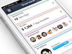 Gorgeous and Flat iOS App Designs | SmokingDesigners