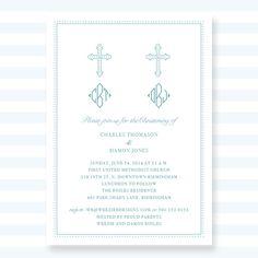 Traditional Twin Baptism Invitation