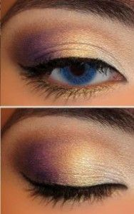 gorgeous gold+purple eyes makeup   Fashion Beauty MIX
