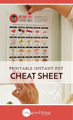 Download a FREE printable PDF listing the Instant Pot cooking times of many common foods. Hang it up in your kitchen for easy reference! #freeprintable #instantpot