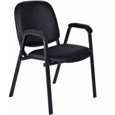 Regency Products Ace Vinyl Stack Chair, Black Vinyl
