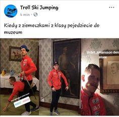 Będę tutaj dodawać memy o skokach narciarskich XD Zapraszam! #losowo # Losowo # amreading # books # wattpad Ski Jumping, Best Memes, Troll, Skiing, Jumper, Funny, Cute, Sports, Baseball Cards