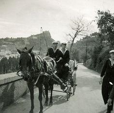 My father in Capri (left)