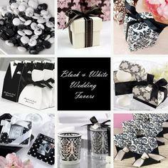 Black/White Wedding Favors/Recuerdos Collage!