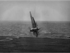 Grumman Avenger JZ123 stalled and ditched on take of from Shah, August 10th 1944. The pilot, SLt. JI Delany RNZN was rescued OK HMS Shah was a Ruler-class escort carrier in the Royal Navy. Her duties were chiefly convoy defence and trade protection against German U-boats operating in the Indian Ocean with a shore base at Trincomalee. #HMSShah #HMSShahD21 #aircraftCarrier #escortCarrier #royalnavy #Avenger #GrummanAvenger #bomber #crash
