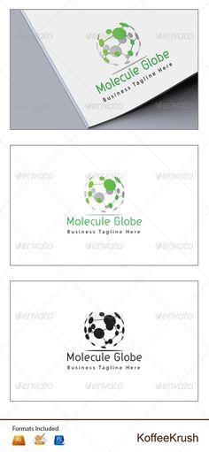 Molecule Globe Logo