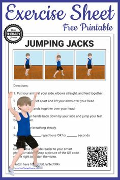 How to do a jumping jack? Seems pretty easy right - a simple jumping jack. Well, it actually isn't that easy! This exercise can be done anywhere with no equipment and it is a full body workout! Motor Skills Activities, Kids Learning Activities, Gross Motor Skills, Physical Activities, Motor Planning, Pediatric Occupational Therapy, Activity Board, Apraxia, Jumping Jacks