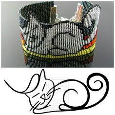 Bead loomed Petcat bracelet - A HeatherCat by CatsWire on DeviantArt