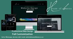 44% of website visitors will leave a companies web page if there is no contact information. A correctly designed website can increase your sales. Need a website or a new web design? I can help you. I am a passionate web designer who offers customized web design  starting at R1100. Give me a call or WhatsApp on 062 629 7768 if you're interested in building yourself online. Visit my site at www.houseofbanza.co.za to view all the packages I offer. News Web Design, Professional Web Design, I Site, Search Engine, Give It To Me, Coding, Building, Seo, Goal