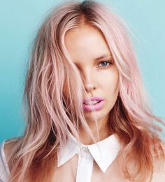 I am kinda digging the pale pink. Now only if I could pull it off at work.....18 Subtle Ways to Add Color to Your Hair via Brit + Co.