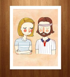The Royal Tenenbaums Art Print | This Wes Anderson-inspired print of an original illustration f... | Posters