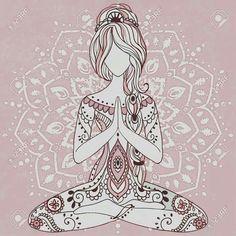41 Ideas For Yoga Ilustration Art Namaste Art And Illustration, Yoga Meditation, Namaste Yoga, Namaste Art, Meditation Pictures, Meditation Corner, Meditation Quotes, Meditation Space, Yoga Inspiration