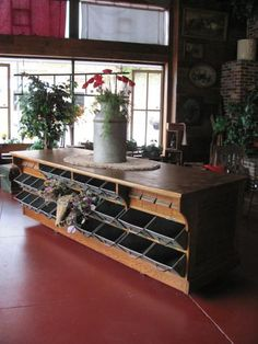 Perfect kitchen island, but would nee granite on top with over hang for stools on one side and on the other so you could stand and work! Oak hardware counter from an old hardware store in Ord, NE Store Counter, Counter Display, Farm Store, Store Fixtures, Store Displays, Antique Stores, General Store, Store Design, A Boutique