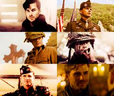 Matthew Settle aka Ronald Speirs in Band of Brothers.