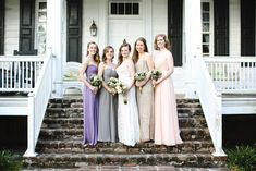 Charles and Kathleen's South Carolina Tea Room Wedding on @intimatewedding Photography by @mickschulte #bridesmaids #smallwedding