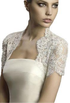 Bridal Bolero, Wedding Bolero, White Wedding Dresses, Wedding Gowns, Shrugs And Boleros, Crystal Dress, Dress Backs, Bridal Style, Lace Dress