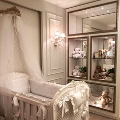 All white vintage baby bedroom Room, Baby Room Decor, Luxurious Bedrooms, Home Decor, Girl Room, Baby Bedroom, Rustic Bedroom, Baby Girl Room, Luxury Nursery