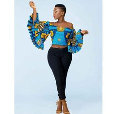 20 OFF SHOULDER OUTFITS pattern is even easier to pair with trousers and jeans,effortlessly create casual, office, and special occasion looks African Fashion Designers, African Print Fashion, Africa Fashion, Ankara Fashion, African Prints, Fashion Outfits, Fashion Ideas, Fashion Patterns, Ethnic Fashion