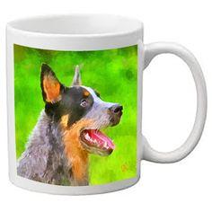 Australian Cattle Dog - Blue Heeler 'Percy' - Ceramic Coffee Mugs by DoggyLips - 2 sizes by DoggyLips on Etsy