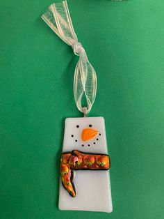 Excited to share this item from my shop: Modern Fused Glass Snowman Ornament with Dichroic Scarf Fused Glass Plates, Fused Glass Ornaments, Fused Glass Jewelry, Fused Glass Art, Snowman Ornaments, Dichroic Glass, Stained Glass, Glass Christmas Decorations, Glass Christmas Ornaments