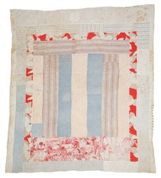 Polly Bennett, Medallion with center bars, 1943, Cotton, 80 x 72 inches. An upside down Argentinian flag, wow!!!