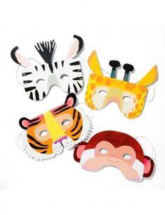 Jungle masker til safari tema Jungle Theme Parties, Safari Party, Party Themes, Jungle Safari, Welcome To The Jungle, Animal Masks, Camping Theme, Pirate Theme, Mask Party