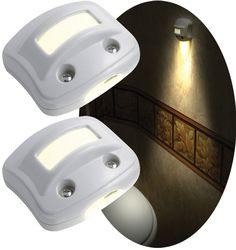 Motion-activated LED lights mount easily in minutes anywhere you need a soft light.