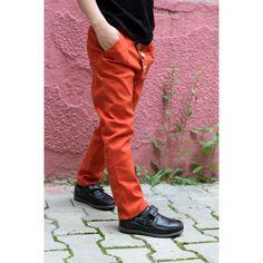 Pantaloni caramizii pentru copii
