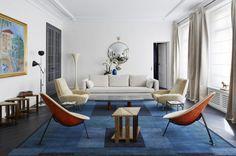 A modern living room designed by  Sarah Lavoine.