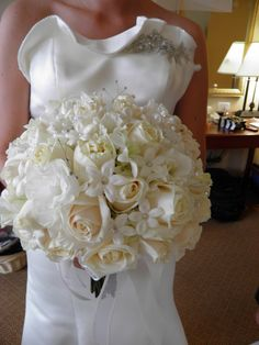 Bride's bouquet. Roses, steph, lisi, orchids