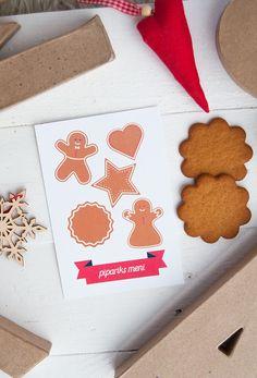 Christmas card/Joulukortti Pipariks meni  www.papellia.fi